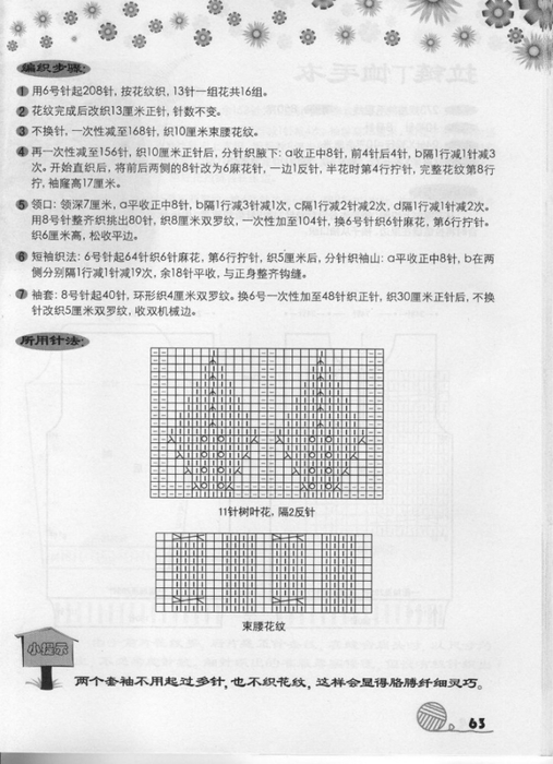 Вязание спицами. Жакет с митенками. схема вязания./3071837_093 (507x700, 217Kb)