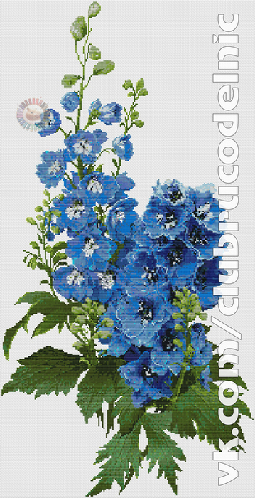 Delphiniums (359x700, 344Kb)