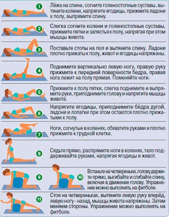 12 упражнений для спины при грыже межпозвоночного диска