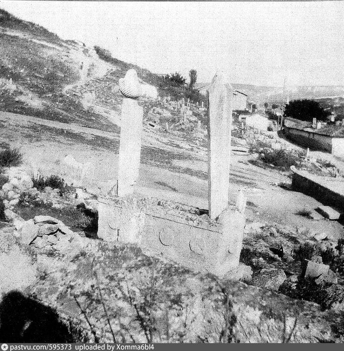 Бахчисарай. Надгробие на мусульманском кладбище прихода Кады - маале. 1916. Автор Боданинский, Усеин Абдрефиевич (686x700, 393Kb)
