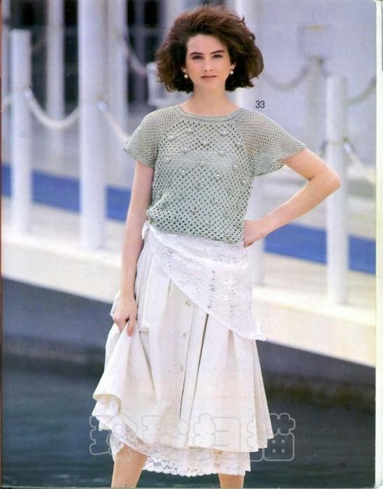 Вязание крючком. Блуза с цветочным орнаментом и бусинами. схема вязания/3071837_251 (548x700, 234Kb)