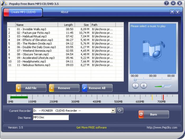 Бесплатный аудиоконвертор   Pepsky Free Audio Converter