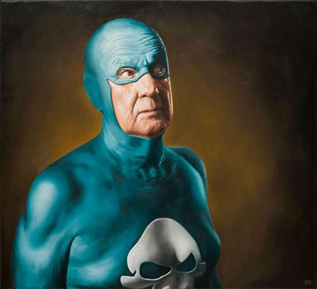 Постаревшие супергерои   художник Андреас Энглунд