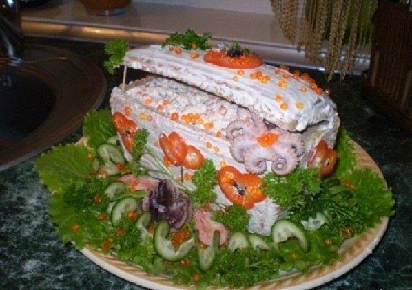 Необычный салат «Сундучок с сокровищами»