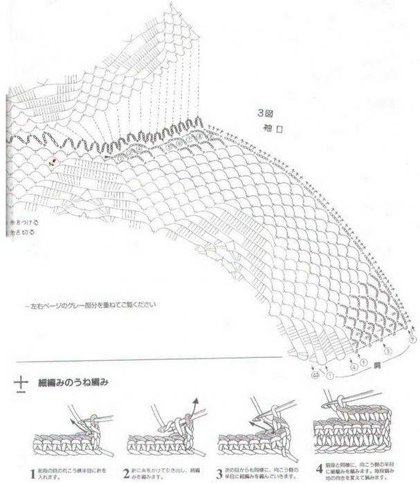 Вязание крючком. Ажурный жилет. схема вязания/3071837_025 (607x700, 217Kb)