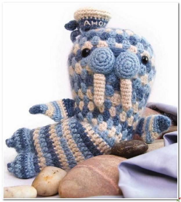 """Вязание крючком. Игрушка """"Морж"""" схема вязания игрушки/3071837_031 (624x700, 55Kb)"""