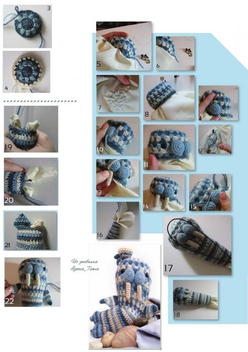 """Вязание крючком. Игрушка """"Морж"""" схема вязания игрушки/3071837_033 (493x700, 212Kb)"""
