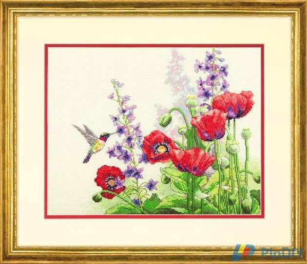 5630023_Dimensions_7035344__Hummingbird_and_Poppies (630x542, 41Kb)
