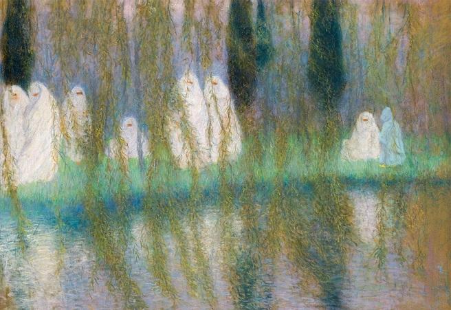 Алжирские женщины на берегу озера (Algerian women on the bank of a lake) (лицевая сторона) (656x451, 434Kb)