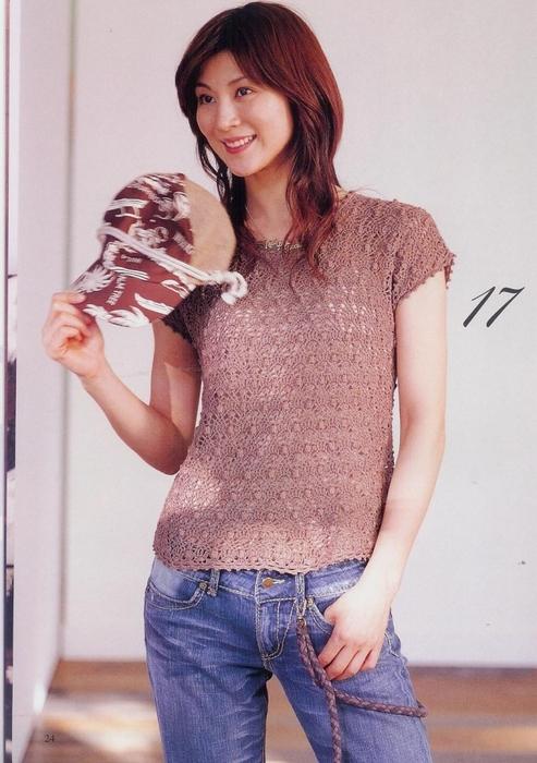 Вязание крючком. Летний пуловер со схемой вязания./3071837_151 (493x700, 250Kb)