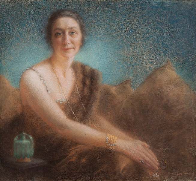 Elegant woman on a sofa (654x606, 492Kb)