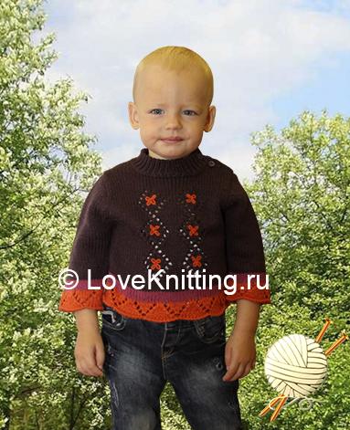 04 Автор Пуловер с вышивкой 1 МТ2 (383x471, 215Kb)