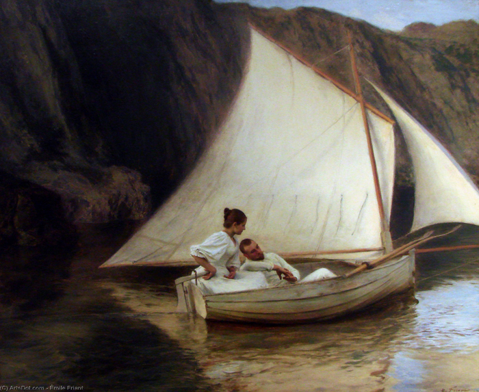 Emile_friant-the_small_boat (700x573, 539Kb)
