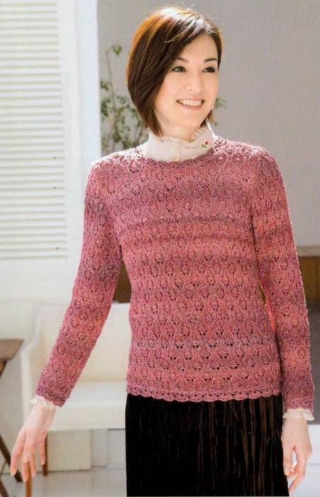 Вязание спицами. Пуловер. схема вязания/3071837_261 (451x700, 249Kb)