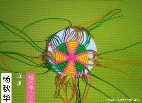 Плетение миниатюрного зонтика для куклы (7) (492x360, 107Kb)