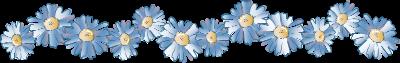 голубые цветы (400x63, 45Kb)