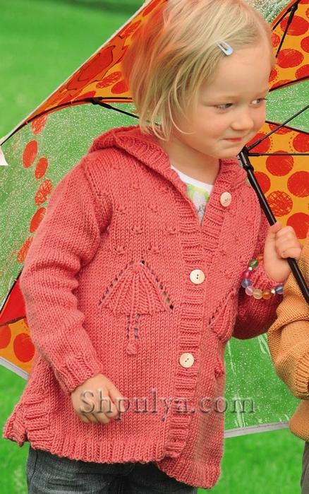 Кофта с капюшоном для девочки спицами, жакет для девочки спицами описание схема, вязаный жакет для девочки спицами, кофта для девочки, вязание для детей с описанием, вяжем детям спицами, жакет для девочки 5-8 лет, сайт о вязании, купить пряжу, пряжа для вязания, www.shpulya.com/5557795_1832_1 (438x700, 282Kb)