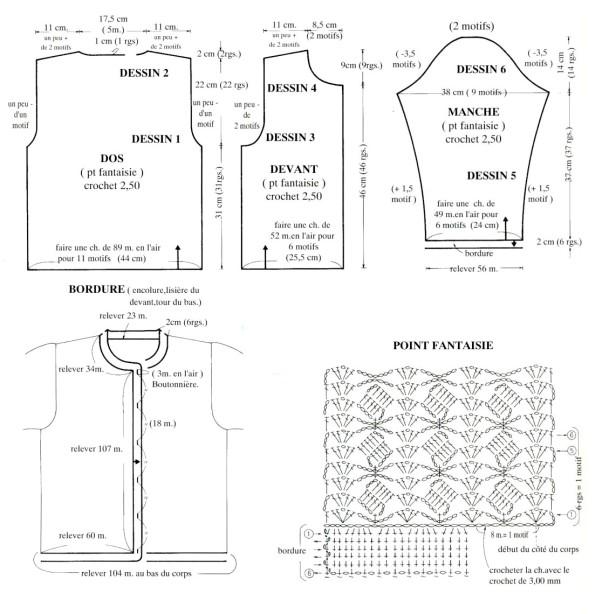 Вязание крючком. Кофточка плотной вязки. схема вязания/3071837_202 (602x614, 77Kb)