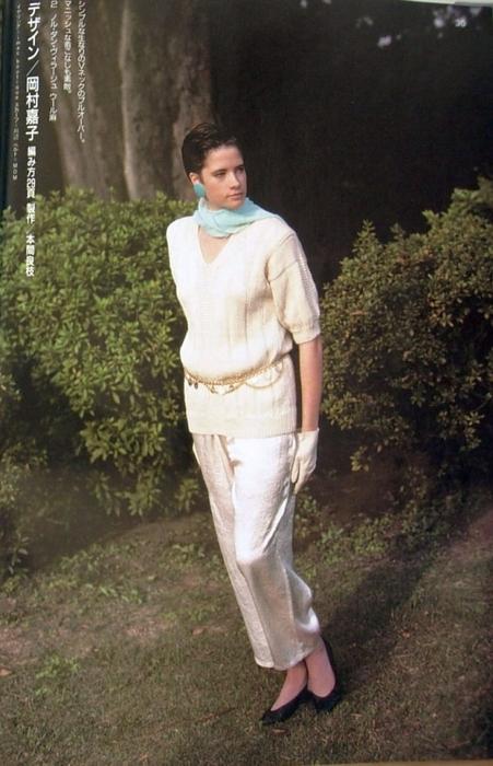 Длинный пуловер связанный спицами со схемой вязания/3071837_29 (451x700, 229Kb)