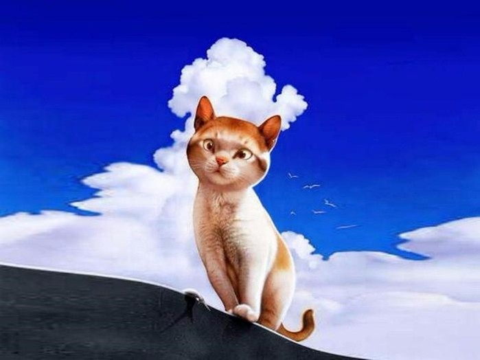Японская художница Макото Мурамацу   кошки на забавных картинах для паззлов
