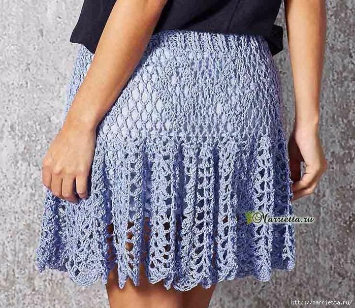 Летняя юбка крючком. Схемы вязания (5) (700x606, 414Kb)