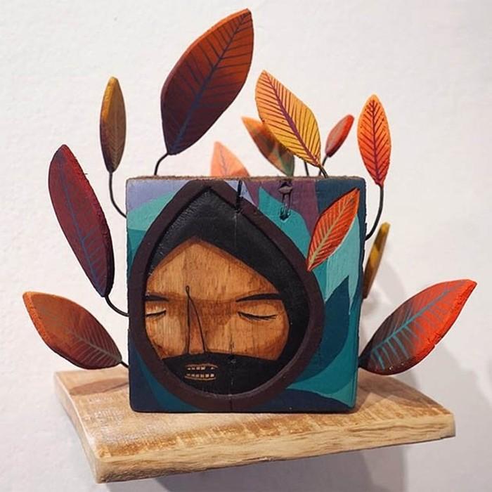 Таинственные деревянные фигуры Джейми Молина