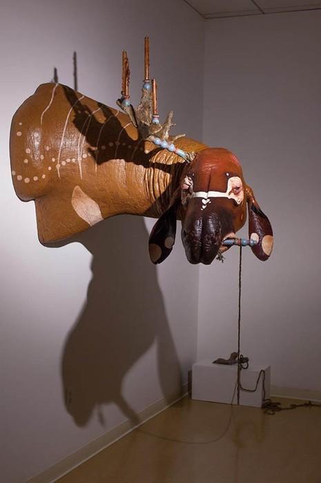 Луис Хэбек и его скульптуры динозавров