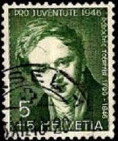 YtCH 433  46г Rodolphe Toepffer, художник и писатель Доплата 5+5 (173x206, 21Kb)