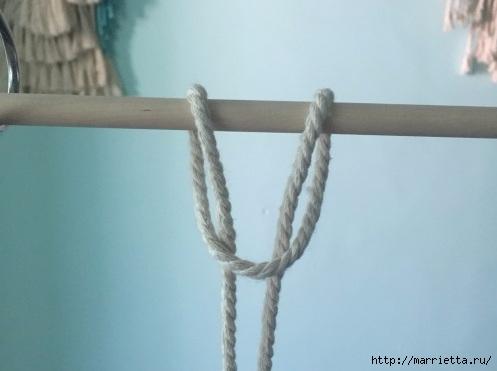 Плетение декоративного панно в технике макраме (2) (497x371, 73Kb)