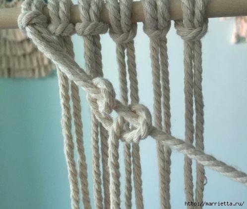 Плетение декоративного панно в технике макраме (4) (498x423, 120Kb)