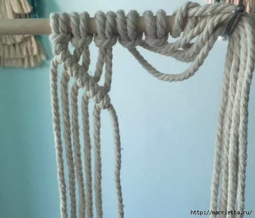 Плетение декоративного панно в технике макраме (6) (498x426, 117Kb)