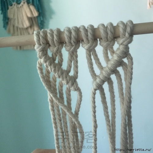 Плетение декоративного панно в технике макраме (8) (500x500, 134Kb)
