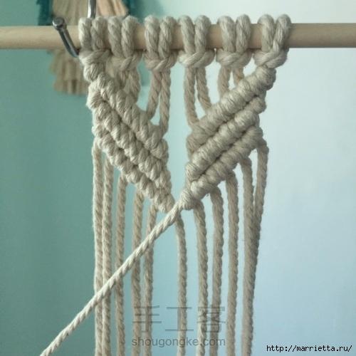 Плетение декоративного панно в технике макраме (11) (500x500, 132Kb)