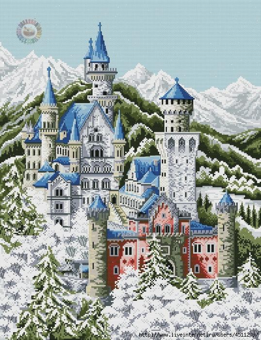 Зимний замок (538x700, 489Kb)