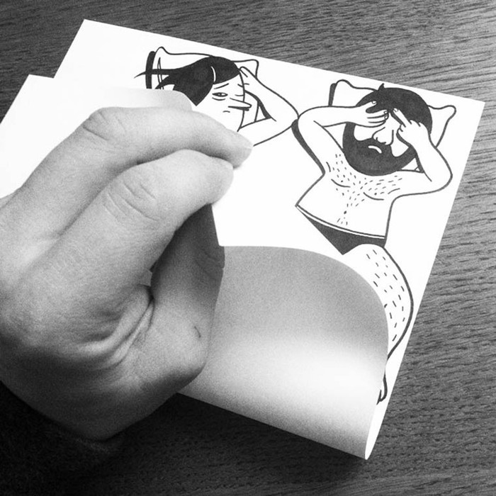 Забавные оптические иллюзии на обычной согнутой бумаге
