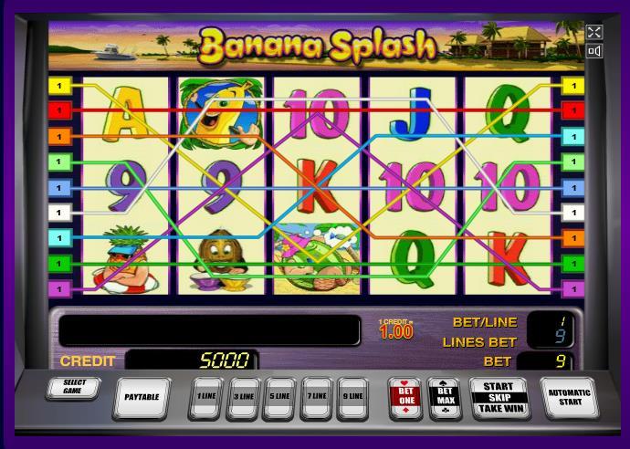 Играть в автомат Banana Splash на портале sloty-vulcana.com