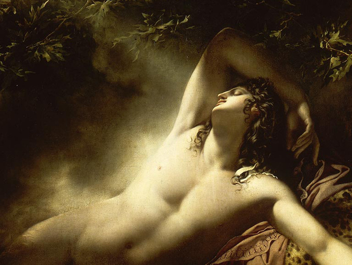 Anne-Louis GIRODET de Roussy-Trioson ~ detail The Sleep of Endymion (700x528, 339Kb)