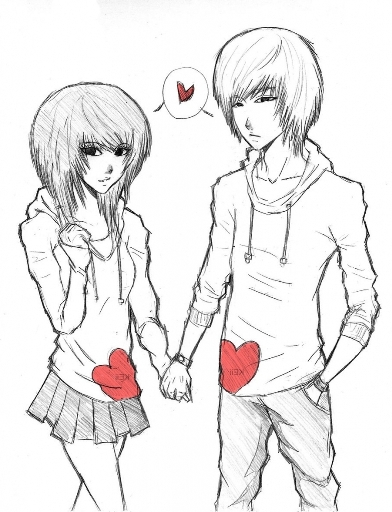 cute-anime-couples-drawings-anime-couples-drawing-drawing-artisan (392x512, 140Kb)