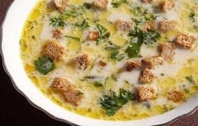 Сырный суп с шампиньонами и сухариками (396x253, 47Kb)