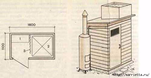 Как построить летний душ для дачи своими руками (3) (500x261, 52Kb)