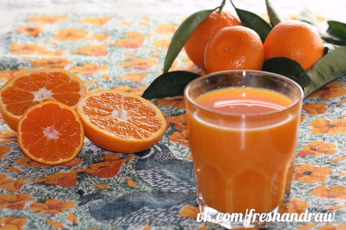 Как сделать из мандарин напиток