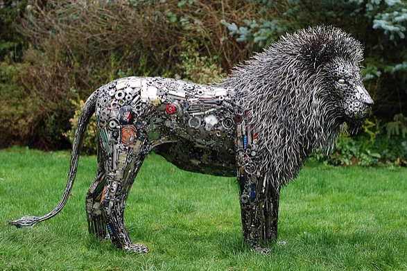 художник Брайан Мок скульптуры из металла 1 (587x391, 268Kb)