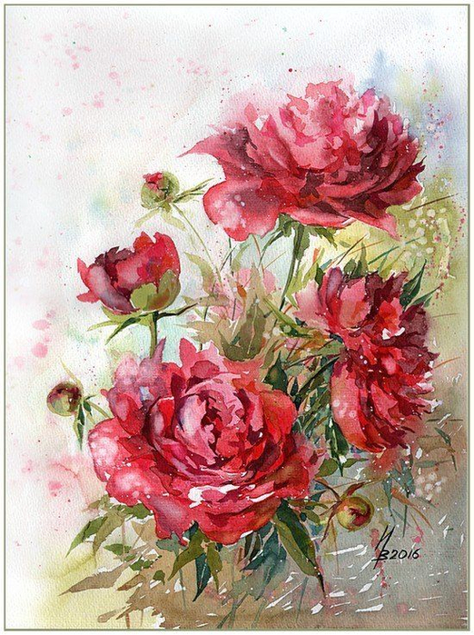 акварельные цветы 4 (522x700, 498Kb)