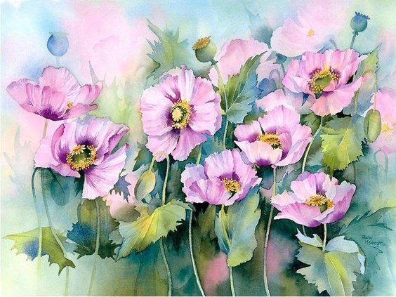 акварельные цветы 6 (564x423, 269Kb)