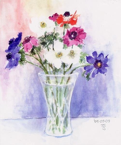 акварельные цветы 8 (501x600, 261Kb)