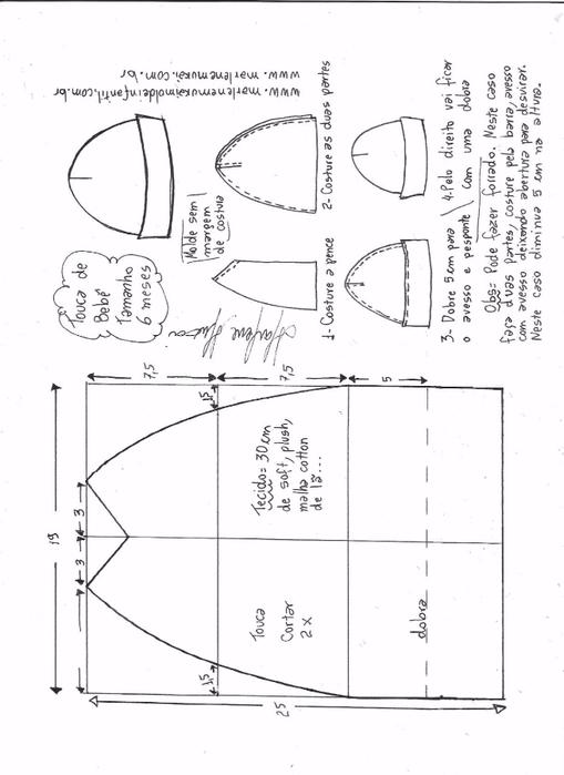 Летняя трикотажная шапочка для малышки (3) (509x700, 162Kb)