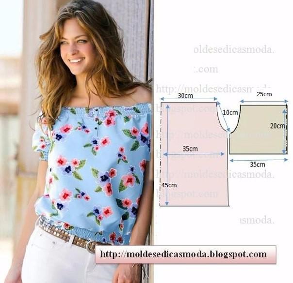 Летние блузки — легкий крой (6) (604x585, 236Kb)