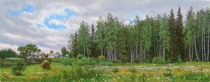 Александнр Зорюков пейзаж 14 (700x273, 237Kb)