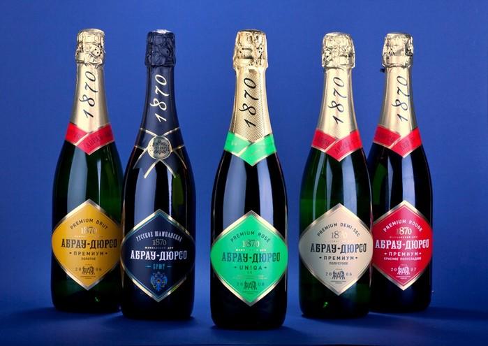 Шампанское Абрау-Дюрсо и традиционные русские игристые вина