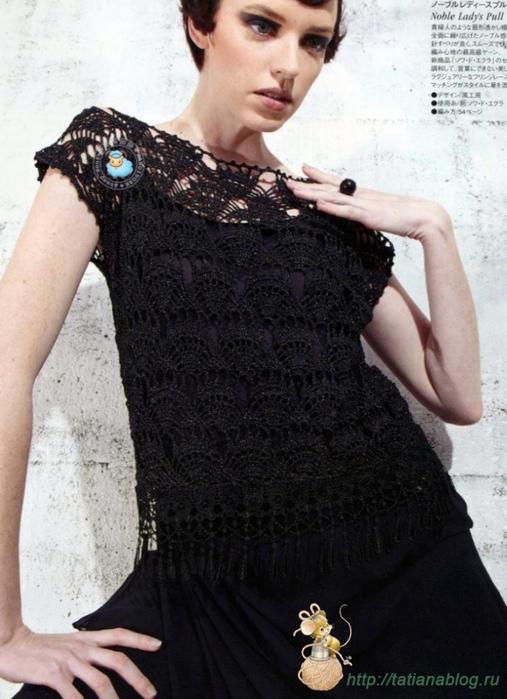 Ажурная блузка связанная крючком со схемами вязания./3071837_361 (507x700, 246Kb)